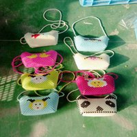 Wholesale Wholesale Beaded Ties - Manufacturers selling handmade beaded jewelry Children ms pearl long belt inclined shoulder bag All animal pearl