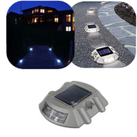 Wholesale Solar Road Stud Lights - Solar Road Stud Light 100% Solar Light Aluminum Casting Spike LED Traffic Lights Signal Road Stud Lights Pathway stree light