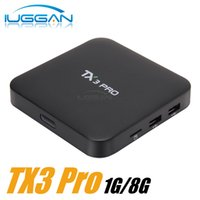 Wholesale Internet Stream Player - TX3 Pro A905X 4K Android Box Streaming Media Player 1G 8G kd kd 16.1 Preinstalled Android 6.0 Marshmallow OS Internet TV Decoder Box