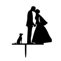 свадебные торты свадебного невесты оптовых-Жених и невеста свадебный торт ботворезы торт вставляется карты свадьба торт украшения акриловые свадебные вставки