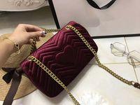 Wholesale Cell Phone Covers Box - freeship Autumn And Winter stlye Most popul luxury handbags women bag designer small messenger bags feminina velvet girl bag with box