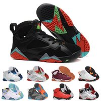 Wholesale Medium Graphite - [With Box]Cheap Basketball Shoes Retro VII 7 Bordeaux Graphite Sneakers Mens Sports Shoes Discount Basketball Boots Athletics US8.0-13