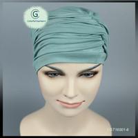 Wholesale Head Covers Beanies - New Full Head Cover Head Turban Head Wrap Hair Loss Chemo Hat women Bandana Scarf Turban