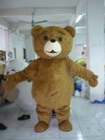 Wholesale Ted Christmas Bear - hot sell Mascot Adult size Cartoon long plush ted brown bear Mascot Costume mascot halloween costume christmas Crazy Sa