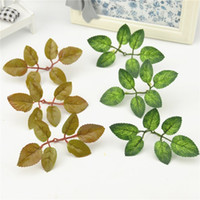 Wholesale Cheap Christmas Wreaths - 10pcs Cheap Silk Green Lvy Leaves With Stame Artificial Flower For Wedding Christmas Decoration Wreath Scrapbooking Fake Flowers