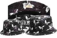 Wholesale Pigeon Mix - Hot Black CAYLER & SONS Pigeon Print Snapback Fishing Hats Bone Bucket Caps Cayler and Sons Hip Hop Headwear mix lot free shipping TYMY 35