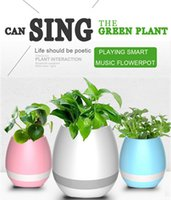 Wholesale Music Green Plant Smart Bluetooth Speaker Music Flower Pots Home Office Decoration Green Plant Music Vase Touch Induction Creative
