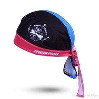 ingrosso fascia di foulard nera-Spedizione gratuita Ciclismo sciarpa berretto Sudore foulard bandana bandana quick-dry bicicletta Fresco cane nero cappello blu stile