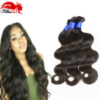 Wholesale Light Brown Cheapest Hair Extensions - Hannah Brazilian Body Wave Human hair Bulk For Good Quality Cheapest Price 8-30 Inch 3Pcs Lot Braiding Braid Extensions