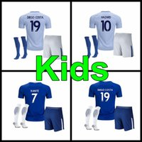 Wholesale Chelsea Orange - best quality 2017 2048 kids Chelsea soccer Jersey Kits PEDRO FABREGAS HAZARD DIEGO COSTA WILLIAN KANTE 17 18 child youth Football Shirt
