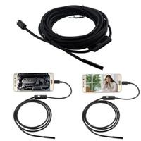 mini câmera de vídeo snake venda por atacado-Atacado-Novo 5M MELHOR 5.5mm Mini telefone Android Endoscópio 6 LED Cobra Impermeável Câmera de Vídeo Borescope Suporte OTG