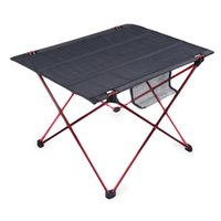 Wholesale Folding Aluminium Picnic Table - Wholesale-New Portable Outdoor Oxford Folding Table Desk Golden Aluminium Alloy Ultra-light Durable Foldable Table Camping Hiking Picnic
