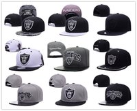 Wholesale Snapback Ball Top - New Caps 2017 Football Snapback Caps Leather Bill Hats Black Color Oakland Team Hat Snapbacks Mix Match Order All Caps Top Quality Hat