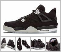 Wholesale Mens Shoes Version - 2017 Air Retro 4 IV Eminem Basketball Shoes For Men Black Denim Undefeated Encore Blue Olive Green Mens Version Wholesale 41-47