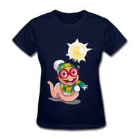 случайный тройник спортивных женщин оптовых-Скидка футболки для женщин пингвины печатных футболки повседневная женщины Спорт Повседневная футболки с коротким рукавом шею Tee для женщин