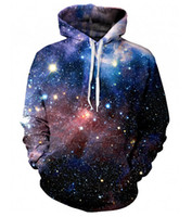 Wholesale Hipster Hoodie - Wholesale-New Hipster LUSH GALAXY UNISEX ALL OVER 3d PRINT HOODIE punk Women Men Sweatshirts Hoodies Outfits Casual Sweats