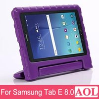 Wholesale Tablet Proof - Non-Toxic EVA Kids Tablet PC Case Cover For Samsung Galaxy TAB E T377 8.0 inch Handle Case Drop Proof Capa Accessories