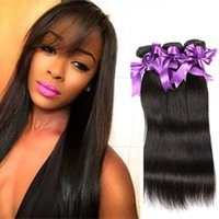 Wholesale Hair Colour Cheap - Malaysian Virgin Hair Straight 3 Bundles Unprocessed Straight Human Hair Weaves Cheap Malaysian Human Hair Extensions Natural Colour