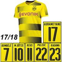 Wholesale Borussia Dortmund Jersey Reus - 2017 2018 Borussia Dortmund soccer jersey REUS football shirt DEMBELE KAGAWA GOTZE AUBAMEYANG Camiseta kits 17 18 Dortmund maillot de foot