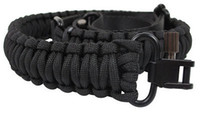 """Wholesale Adjustable Paracord Rifle Sling - Black Tactical 2 Point Bungee Rifle Gun Sling with QD Buckle 550 Paracord Multi Use Adjustable 33"""" to 44"""" Length"""