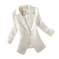 Wholesale Elegant Lace Blazer - Fashion Women's One Button Slim Casual Business Jackets Formal Office Ladies Elegant Lace Jacket Coat Outwear