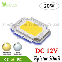 Venta al por mayor - DC 12V de alta potencia LED Chip 1W 3W 5W 10W 20W 30W 50W 100W Warm White SMD COB Diode para 1 3 10 20 30 50 100 W Watt Light Beads