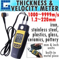 Wholesale Ultrasonic Thickness Meter Gauge Velocity - VA-8041 Handheld Digital Dual Ultrasonic Thickness Meter Gauge Tester Velocity 1.2~220mm + Built-in calibration Metal Block
