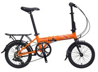 Wholesale 16 Aluminum Alloy Wheel - 16'' Folding Bicycle Alloy Front & Rear Wheel V Brake Folding Bike Hard Frame Vit V7 Standard Variable 7 Speed Bicycle
