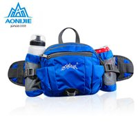 Wholesale Outdoor Bicycle Storage - Wholesale- AONIJIE Multifunction Nylon Sport Waist Bag Outdoor Running Hiking Bicycle Big Storage Money Pouch Fanny Pack with Bottle Holder