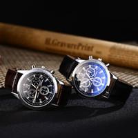 relógios de pulso venda por atacado-Negócio Unisex Mens Relógios De Vidro Azul-ray Genebra Genebra Men Quartz Watch Moda Vestido de Presente de Pulso relógios Para As Mulheres 100 pçs / lote