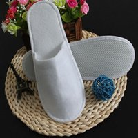 Wholesale Towel Slippers Wholesale - Disposable Slippers Hotel Towelling Slippers EVA Slipper Men Women Flip Flop White Hot Sell Factory Price Indoor Cheap Slipper