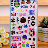 Wholesale Sweet Notebook - 4 pcs lot Sweet girl cosmetics 3D Stickers Scrapbook Notebook decoration DIY Handmade Sticker Gift Card Children's gift