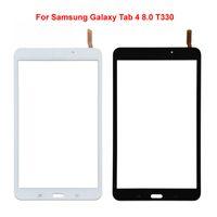 samsung galaxy tab wifi venda por atacado-Para samsung galaxy tab 4 8.0 T330 versão wi-fi touch screen com digitador lente de vidro substituição parte