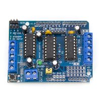 Wholesale Motor Control Boards - Wholesale- Freeshipping L293D motor control shield motor drive expansion board FOR Arduino motor shield