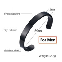 Wholesale Customized Stainless Bracelets - Gold Bangles customized jewelry engraving stainless steel 6mm 8mm men engravable cuff bracelet couple Bangle for women hot sale