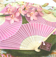 Wholesale Luxurious Paper Gift Boxes - Fan Chinese Silk Folding With Paper Bag Party Banquet Gift Luxurious Ancient Folding Handmade Fans Collection For Handicrafts