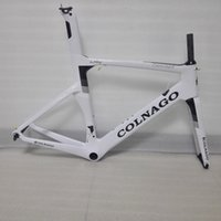 Wholesale New Carbon Road Frame - 5 Year Warranty! 2017 White new Concept Gold full Carbon Road Bicycle Frame bike frame set