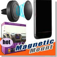 telefon-armaturenbrett großhandel-.new magnetischer Handy-Halter-Luft-Entlüftungs-Smartphone-Auto-Berg-Universalmobile Handy GPS-Auto-Schlag-Berg-Halter für iPhone 6 Plus