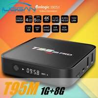 Wholesale Core Quard - Amlogic S905 Quard Core T95M Android tv box with kd pre loaded 1G RAM 8G ROM 2.4G Wifi smart 3D media player