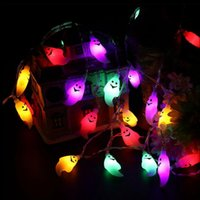 ingrosso luci fiabesche-Ghost Shape Fairy String Lights 20LED per Halloween Indoor Party Cosplay Impermeabile Cute Ghost LED Lights OOA3150