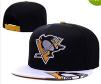 Wholesale Penguin Animal Hat - 2017 new dad hat Cap Pittsburgh Penguins Gradient Style Baseball Snapback Hats Sport Hockey Embroideried Character Logo Casquette Caps bone