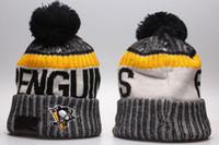 Новые Beanies Penguins 2017 Hot Knit Hockey Beanie Pom Pom Knit Hats Бейсбол Футбол Баскетбол Спорт Beanies Mix Match Order Все шапки