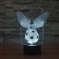 дешевые королевские синие пkers for windows оптовых-Wholesale- Innovative Cool Eagle Football 3D LED Night Light Lamp for Decoration Room FS-2980