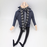 "Wholesale Despicable Toys Gru - Wholesale-1Pc Quality PP cotton 17"" Despicable Me Gru Plush Toy Doll Poseable Lifelike Cute Hot Movie Cartoon for Kids Baby Gifts"
