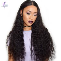Wholesale Modern Wigs For Women - Brazilian Water Wave Human Hair Wigs Brazilian Lace Front Wigs with Baby Hair 130% Desity Human Hair Wigs for Black Women Modern Show