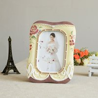 Wholesale Love Flower Resin And Wood Picture Frames Photo For Wedding Frames Gifts Tabletop Picture Frame Wedding Decotations