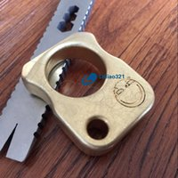 Wholesale First Faces - Handmade EDC Solid Brass Smiling face Tiger Finger Key Chain Ring Tactical Outdoor Self defense survive First aid broken windows pocket Tool