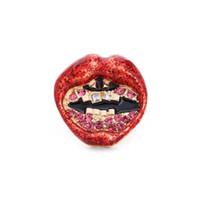 Wholesale Enamel Glaze Rings - Wholesale Hot Sale Red Mouth Women Rings Exaggereated Punk Big Rings For Women Enamel Glaze Party Jewelry