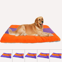 Wholesale Dog Kennel Cushions - New Pet Dog Cat Bed Soft Warm Cushion Kennel Mattress Sleep Mat Orange with Blue FSQ0014