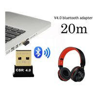 Wholesale Dongle Gm - USB Bluetooth Adapter V4.0 Dual Mode Wireless Dongle Free Driver USB2.0 3.0 20m 3Mbps for Windows 7 8 10 XP Vista